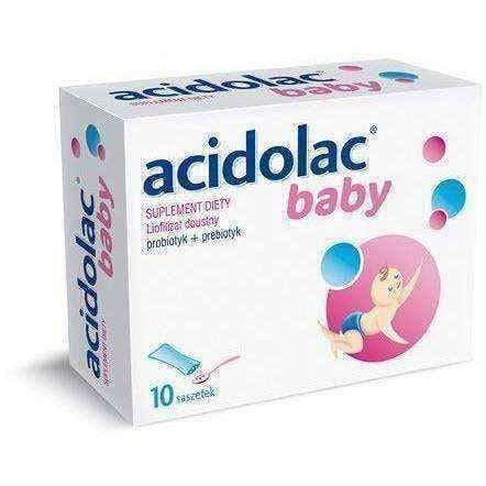 ACIDOLAC Baby x 10 SACHETS for infants restores the normal bacterial flora - ELIVERA UK, England, Britain, Review, Buy