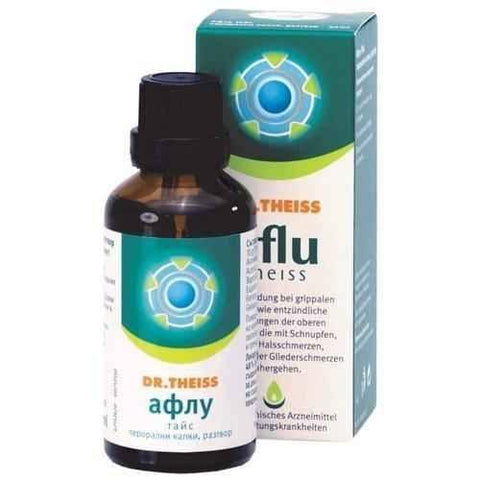 AFLU Theiss drops 50ml. / Aflu-Theiss DR.THEISS - ELIVERA UK, England, Britain, Review, Buy