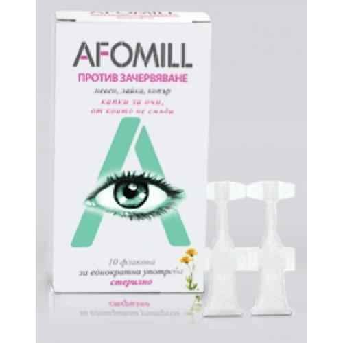 AFOMILL anti-redness 10 sterile disposable vials, AFOMILL.