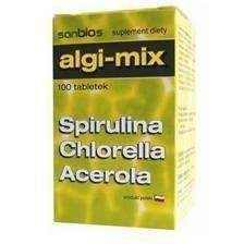 ALGAE-MIX x 100 tablets, spirulina, chlorella - ELIVERA UK, England, Britain, Review, Buy