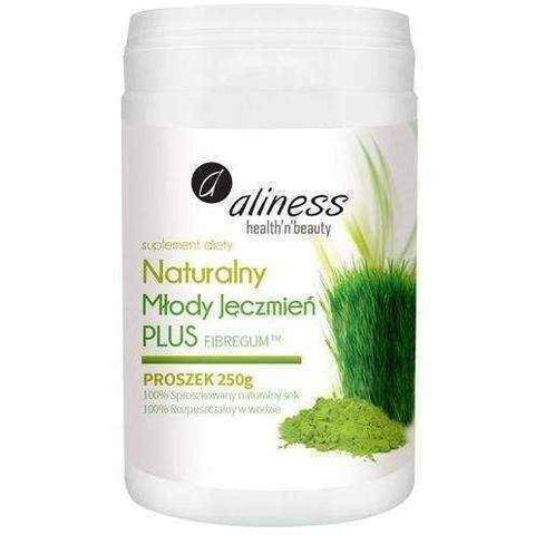 ALINESS natural Young Barley Powder 250g PLUS Fibregum, weight loss UK