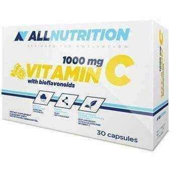 ALLNUTRITION 1000mg Vitamin C with bioflavonoids x 30 capsules, all nutrition