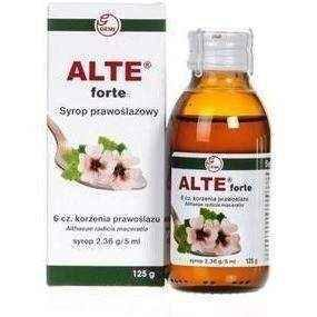 ALTE Forte syrup 125g prawoślazowy, 12 years+ throat irritation, sore throat remedies