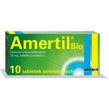AMERTIL Bio 0.01 x 10 tablets 12+ hay fever, allergic reaction symptoms