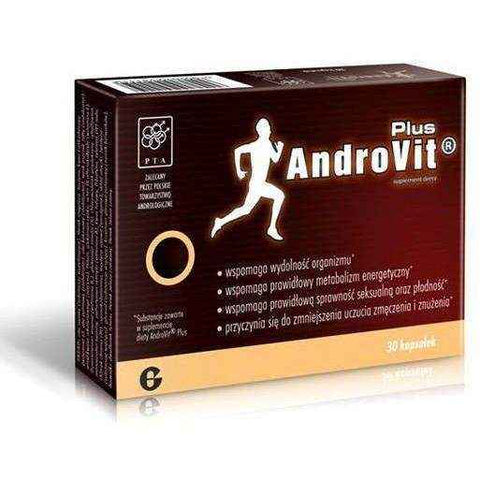ANDROVIT Plus x 30 capsules diet supplement for proper sexual function and fertility