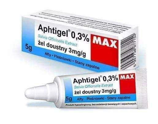 APHTIGEL MAX 0.3% oral care gel 5g - ELIVERA