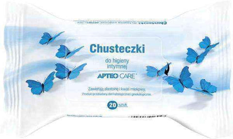 APTEO CARE Wipes for intimate hygiene x 20 pieces