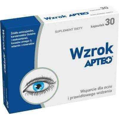 APTEO Vision x 30 capsules, vitamins for eyes
