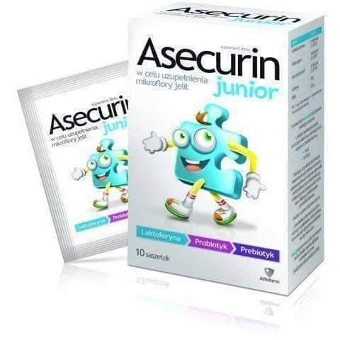 ASECURIN JUNIOR x 10 sachets, lactobacillus acidophilus, acidophilus bifidus, probiotics benefits