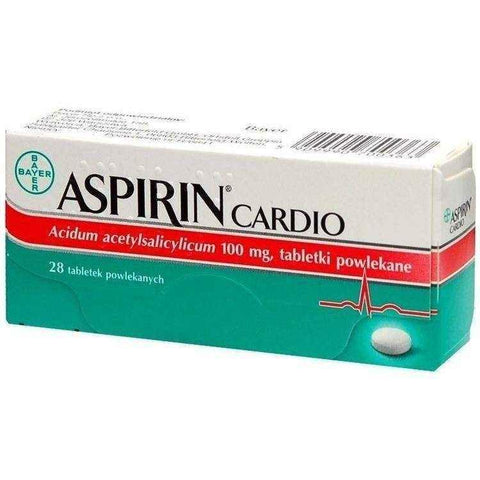 ASPIRIN Cardio (Protect) x 28 tablets, coronary thrombosis UK