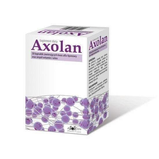 AXOLAN x 30 capsules burning sugar simple and positive effect on metabolic processes of carbohydrates and fats