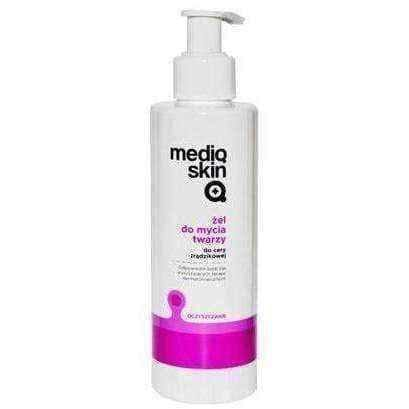 Acne face wash, Mediqskin face wash gel 200ml - ELIVERA UK, England, Britain, Review, Buy