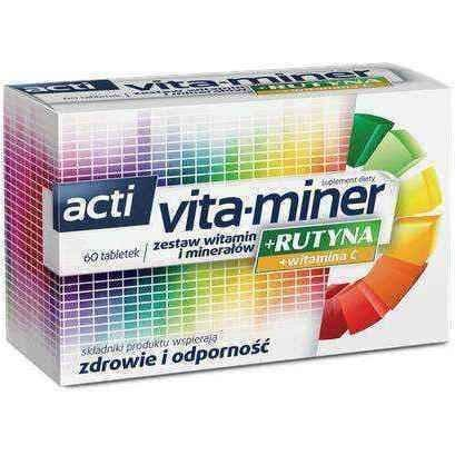 Acti Vita-Miner + Rutyna x 60 tablets UK