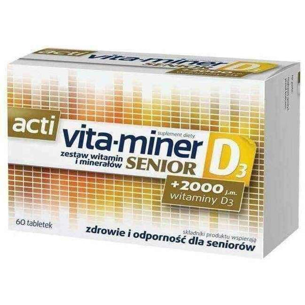 Acti Vita-miner Senior D3 x 60 tablets UK