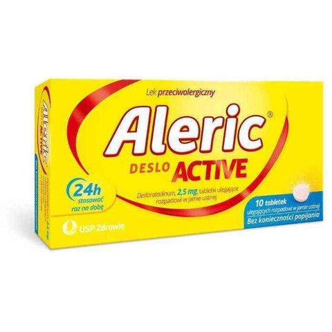 Aleric Deslo Active 2.5 mg x 10 pills, urticaria treatment