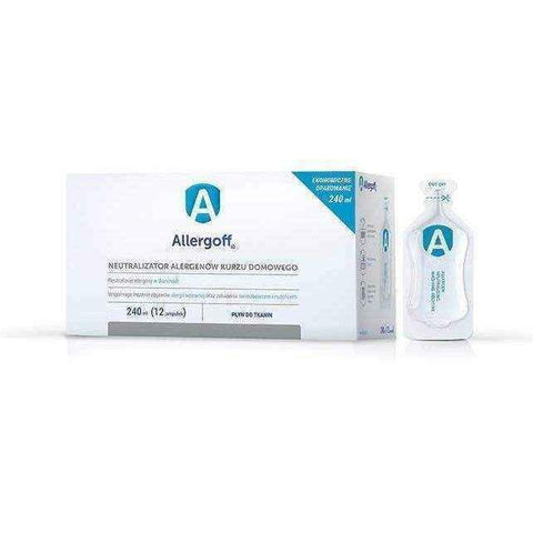 Allergoff liquid fabric neutralizer allergens 240ml x 12 ampoules