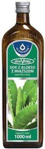 AloeVital Aloe juice with pasteurized 1000ml flesh UK