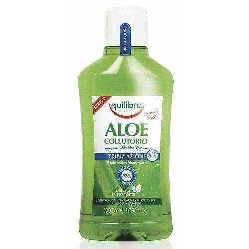 Aloe Vera mouthwash EQUILIBRA Triple Action 500ml.