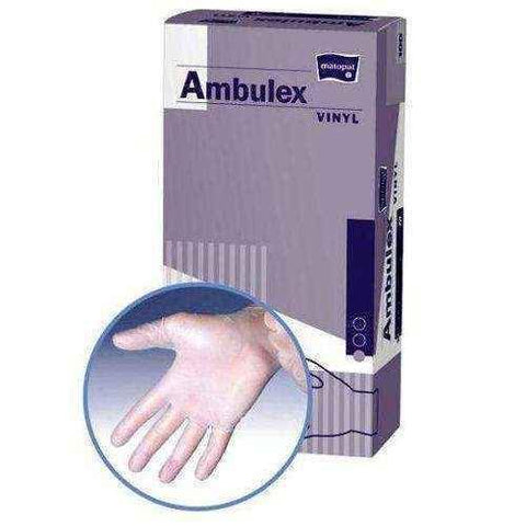 Ambulex Vinyl Gloves non-sterile powder free Size S x 100 pieces - ELIVERA UK, England, Britain, Review, Buy