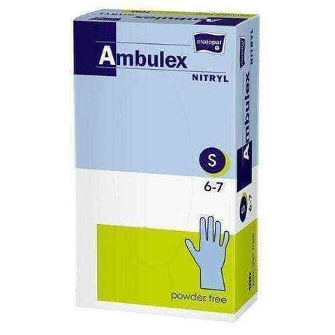 Ambulex gloves Nitrile powder free non sterile size S x 100 pieces UK