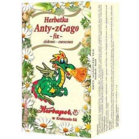 Anty-zGago Fix herbal-fruit tea 2g x 20 sachets, camomile, ginger rhizome.