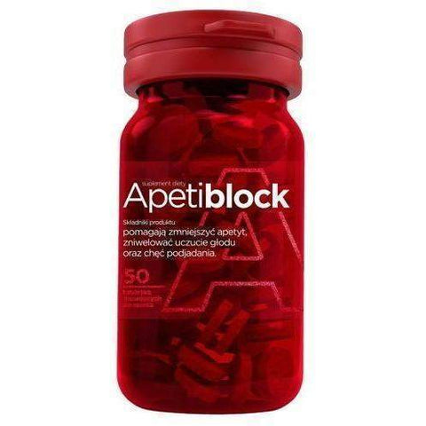 Apetiblock x 50 effervescent tablets for sucking - educing appetite and food intake UK