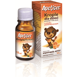 Apetizer drops for children 10ml orange flavor  secretory function of the digestive organs