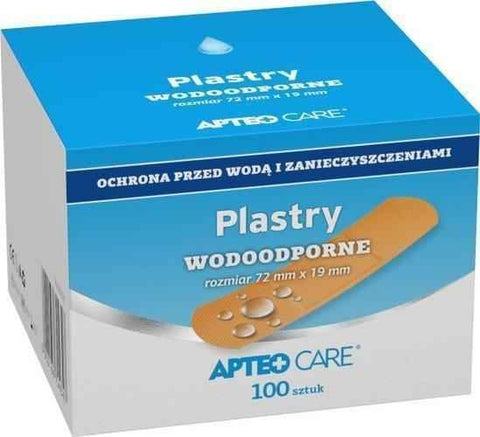 Apteo Care  waterproof plasters 72mm x 19mm x 100 pieces