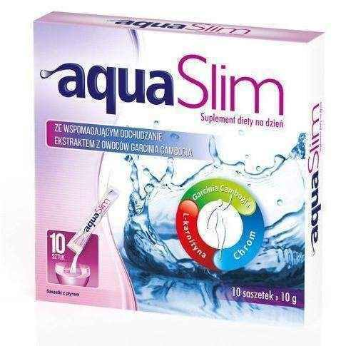 Aqua Slim 10g x 10 sachets, weight loss supplements.