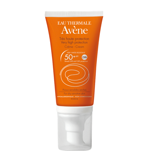 Avene Cream SPF 50+ UVA 50ml, sun cream.