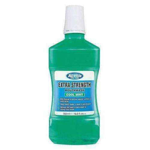 BEAUTY FORMULAS ACTIVE Extra strong mouth washer 500ml