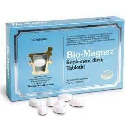 BIO-MAGNESIUM 0.2 g x 30 tablets physical and mental fatigue and cardiovascular diseases