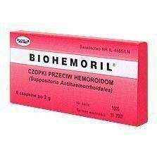 BIOHEMORIL suppositories against hemorrhoids 2g x 6 pieces, hemorrhoids cure