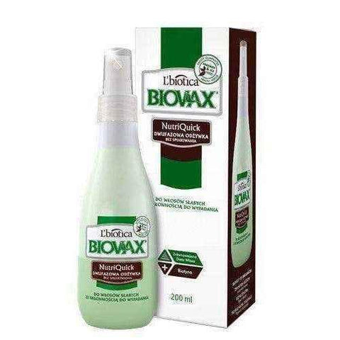 BIOVAX Biphasic conditioner without rinsing hair weak prone to loss 200ml