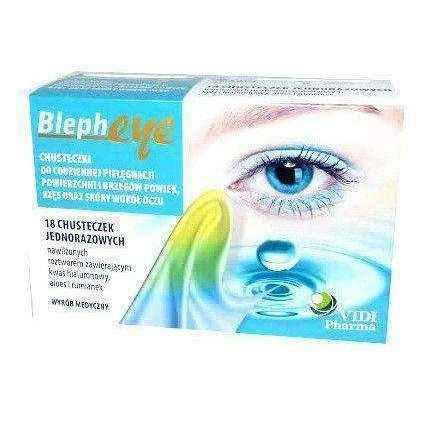 BLEPHEYE wipes for the care of the surface and edges of the eyelids x 18 pieces