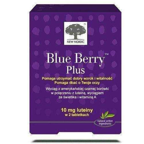 BLUE BERRY PLUS x 120 tablets, blue berries, bilberry supplement, marigold