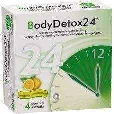 BODYDETOX24 x 4 sachets lemon flavor, detox your body, natural detox cleanse, full body cleanse