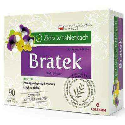 BRATEK x 90 tablets, violet extract, herbal medicine UK