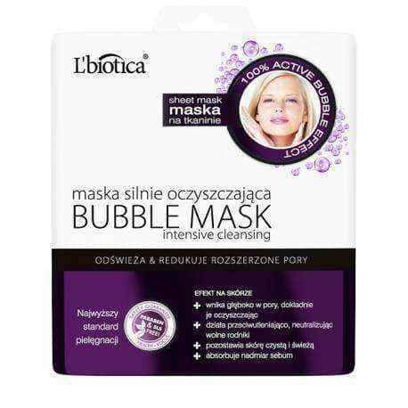 BUBBLE MASK L'Biotica purifying the fabric 23ml