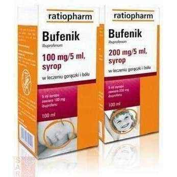BUFENIK 200mg / 5ml syrup 100ml for infants anti inflammatory UK
