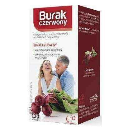 Beetroot juice, beetroot supplement BURAK Red x 120 tablets