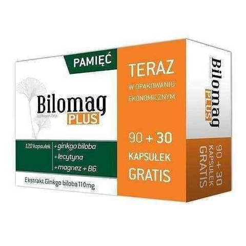 Bilomag Plus x 90 + 30 capsules, improve memory UK