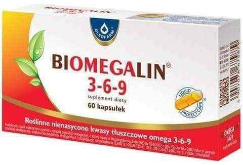 Biomegalin 3-6-9 500mg x 60 capsules