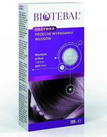 Biotebal Conditioner against hair loss 200ml, hair loss cure - ELIVERA UK, England, Britain, Review, Buy