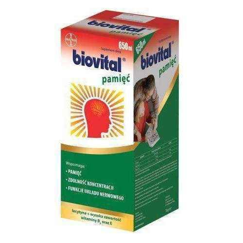 Biovital memory liquid 650ml, vitamins for memory UK
