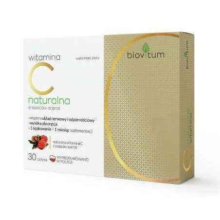 Biovitum Natural vitamin C x 30 tablets UK