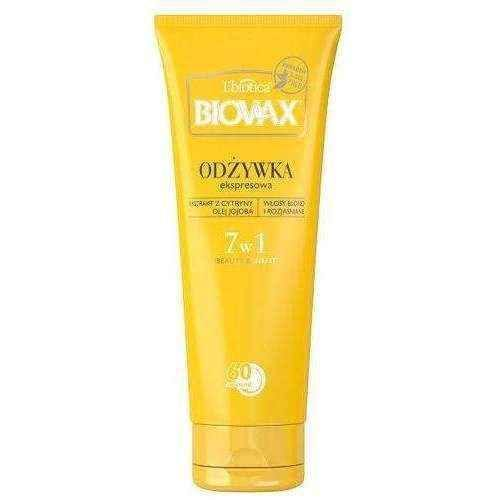 Blonde hair BIOVAX BB conditioner 60 seconds for blonde hair 200ml