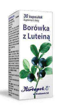 Blueberry with lutein x 30 capsules - ELIVERA