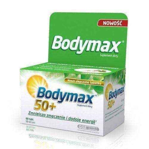 Bodymax 50+ x 60 tablets, multivitamin