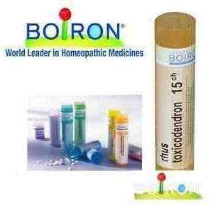 Boiron Rhus Toxicodendron 15CH pellets 4g, irritable, anxious, restless, delusional disorder.